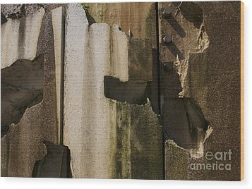 Wood Print featuring the photograph 3 Pegs Abstract IIi by Sherry Davis