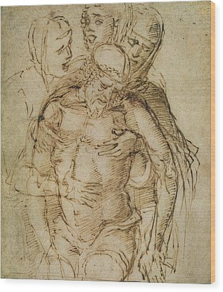 Pieta Wood Print by Italian School