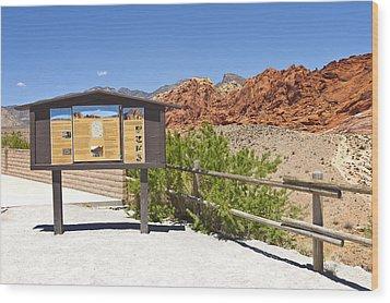 Red Rock Canyon Nevada. Wood Print by Gino Rigucci