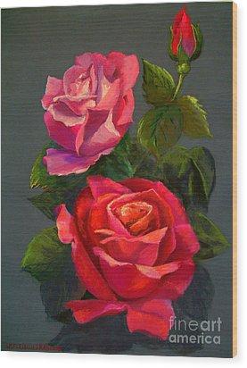 3 Reds Wood Print