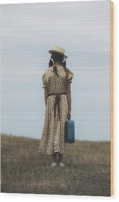Refugee Girl Wood Print by Joana Kruse