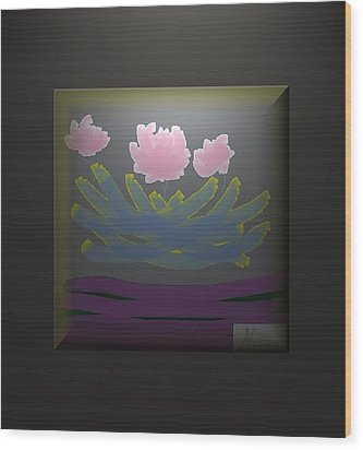 3 Roses Wood Print by Ines Garay-Colomba