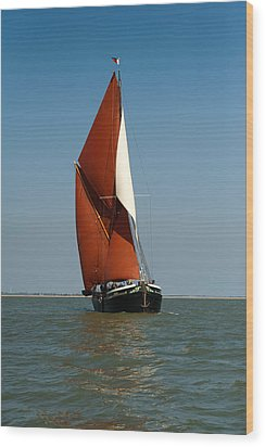 Sailing Barge Wood Print by Gary Eason