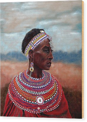 Samburu Woman Wood Print