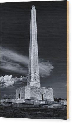 San Jacinto Monument One Sky One Star Wood Print by Joshua House