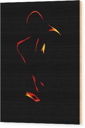 Sax In The Dark Wood Print