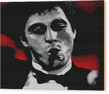 Scarface 2013 Wood Print by Luis Ludzska