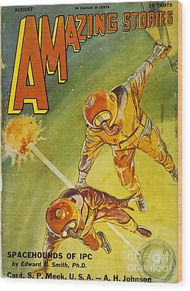 Sci-fi Magazine Cover 1931 Wood Print by Granger