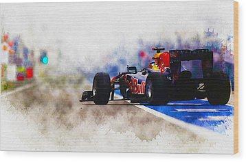 Sebastian Vettel Wood Print