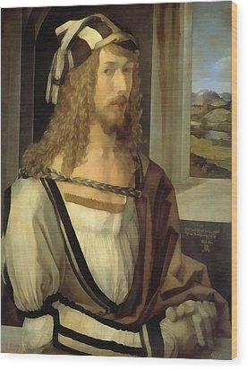 Self Portrait Wood Print by Albrecht Durer