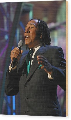 Smokey Robinson Wood Print by Don Olea