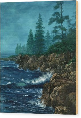 Wood Print featuring the painting Solitude by Lynne Wright