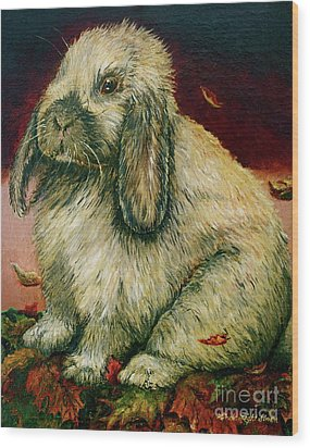 Some Bunny Is A Honey Wood Print by Linda Simon