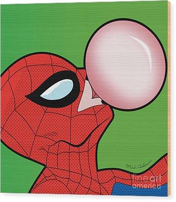Spiderman  Wood Print by Mark Ashkenazi