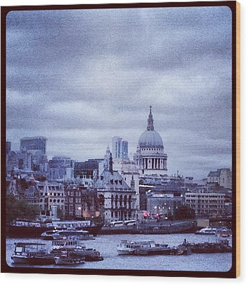 St Paul's Wood Print by Maeve O Connell