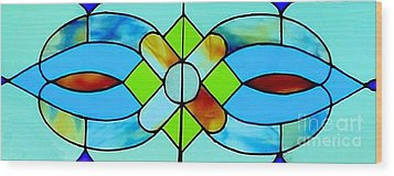 Wood Print featuring the photograph Stained Glass Window by Janette Boyd
