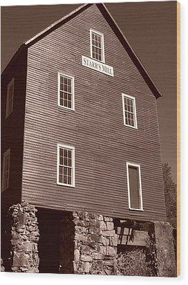 Starr's Mill Ga Wood Print by Jake Hartz
