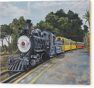 Sugar Cane Train Wood Print