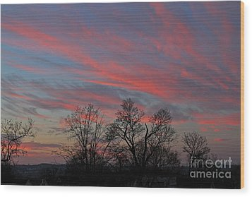 Wood Print featuring the photograph Sunrise by Jay Nodianos