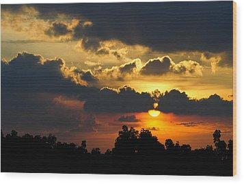 Sunset Wood Print by Izwan Amrul