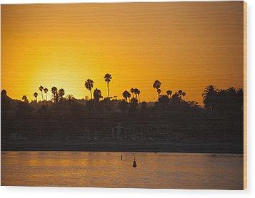 Sunset Santa Barbara Wood Print by Ralf Kaiser