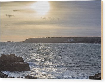 Wood Print featuring the photograph Sunset Schoodic Peninsula by Trace Kittrell
