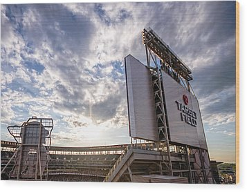 Target Field Sunset Wood Print by Tom Gort