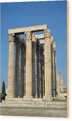Temple Of Olympian Zeus In Athens Wood Print by George Atsametakis