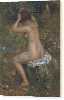 The Bathers Wood Print by Pierre-Auguste Renoir