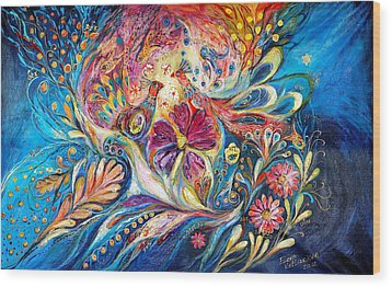 The Flowers Of Sea Wood Print by Elena Kotliarker