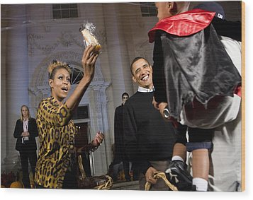 The President And First Lady Wood Print by JP Tripp