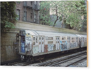 The Subway In The 70s Wood Print by Jim Poulos