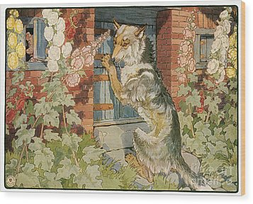 The Three Little Pigs Wood Print by Granger