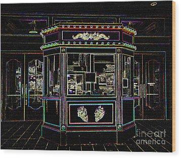The Tivoli In Neon Wood Print
