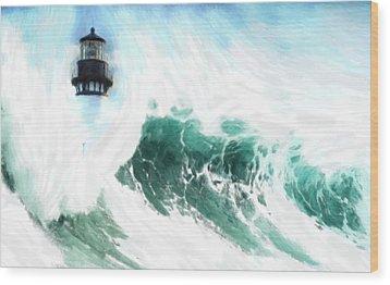 The Wave Wood Print by Steve K