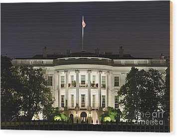 The White House Wood Print by John Greim