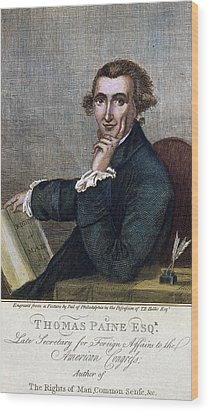 Thomas Paine (1737-1809) Wood Print by Granger