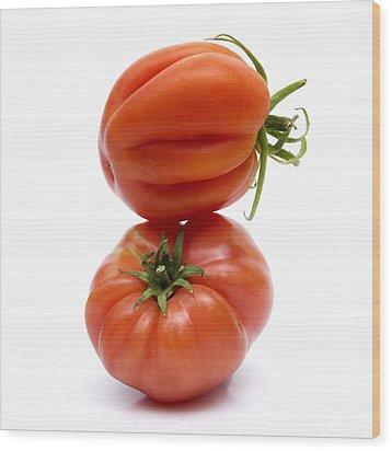 Tomatoes Wood Print by Bernard Jaubert