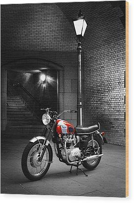 Triumph Bonneville T120 Wood Print by Mark Rogan