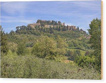 Tuscany - Montepulciano Wood Print by Joana Kruse