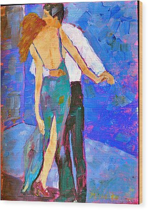 Two To Tango Wood Print by MaryAnne Ardito
