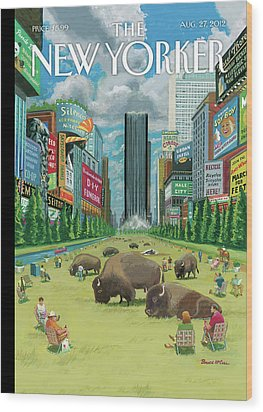 New Yorker August 27th, 2012 Wood Print by Bruce McCall