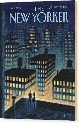 New Yorker October 25th, 2010 Wood Print by Eric Drooker