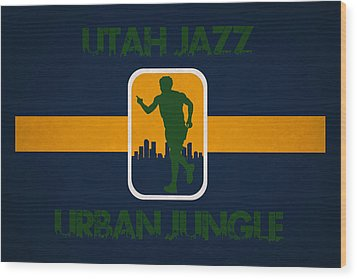 Utah Jazz Wood Print by Joe Hamilton