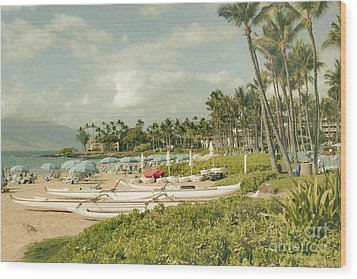 Wailea Beach Maui Hawaii Wood Print