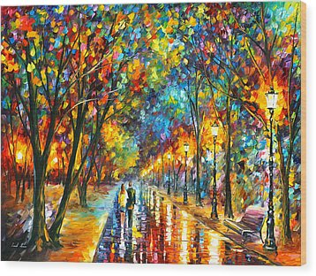 When Dreams Come True Wood Print by Leonid Afremov