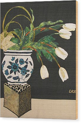 White Tulips Wood Print by Lynda K Boardman
