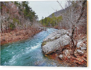 Wood Print featuring the photograph White's Creek by Paul Mashburn