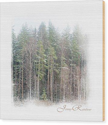 Winter Wonderland. Elegant Knickknacks From Jennyrainbow Wood Print by Jenny Rainbow