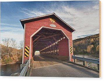 Wooden Covered Bridge  Wood Print by Ulrich Schade